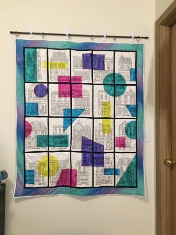 Townhouse Quilt Hanging in my room